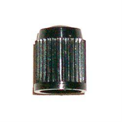 VALVE CAPS PLASTIC BLACK  (SOLD100 PER BOX)