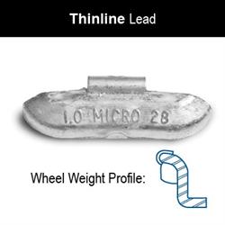 WEIGHT BADA REG THINLINE UNCOATED T 1.50 50/BOX 8/CASE 5522100150